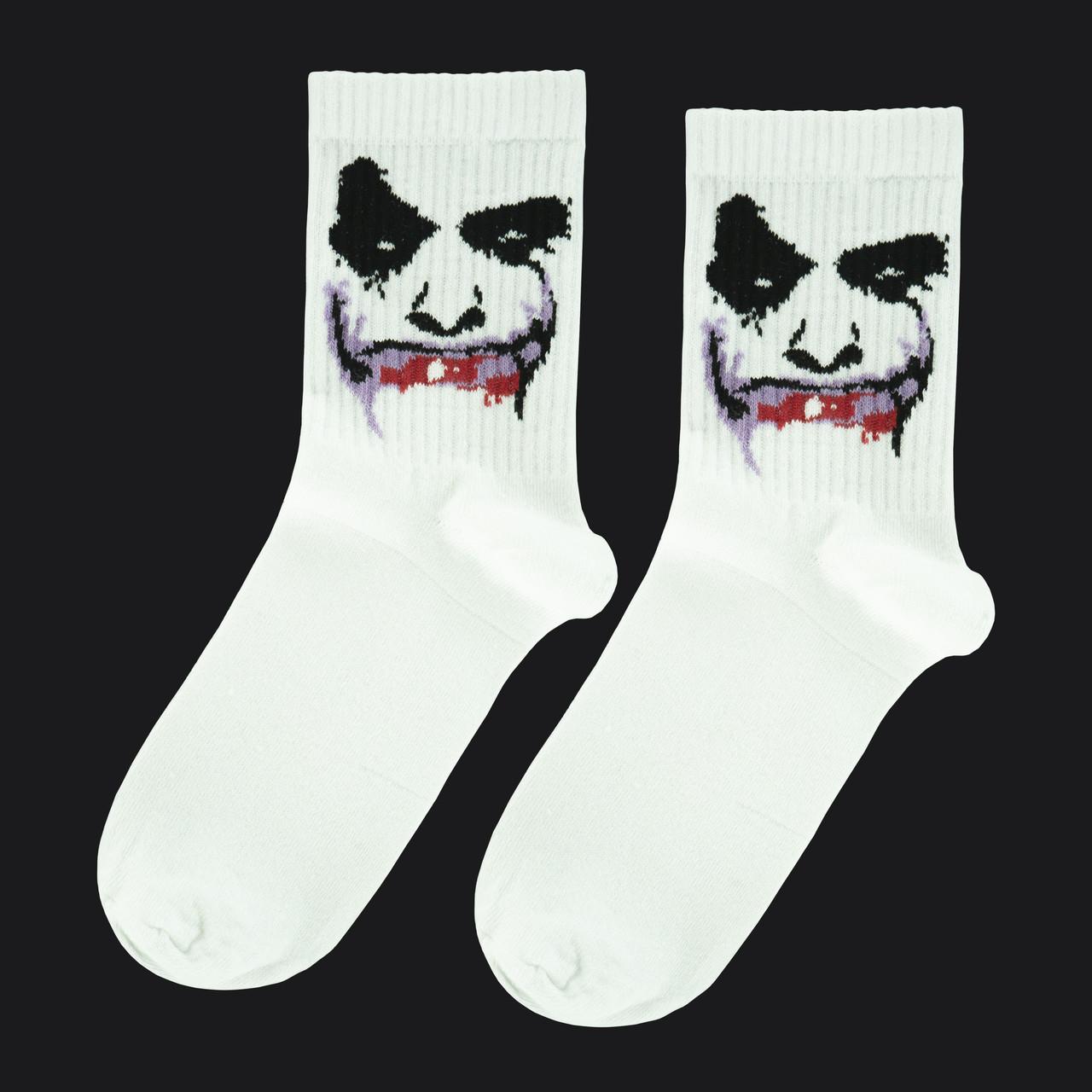 """Носки белые с принтом """"Джокер"""""""