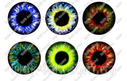 Цветные чипы для глаз куклы Блайс, Айси, набор 6 пар