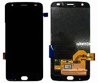 Дисплей модуль для Motorola Moto Z2 FORCE XT1789 в зборі з тачскріном, чорний