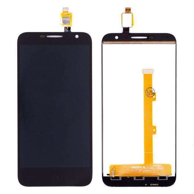 Дисплей модуль для Alcatel One Touch 6016 Idol 2 в зборі з тачскріном, чорний
