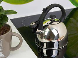 Чайник из нержавеющей стали со свистком 1.5 л