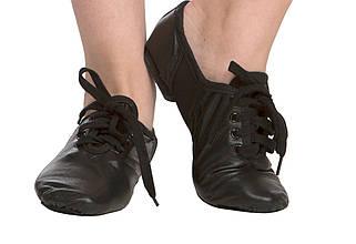 Джазовки Rivage Liine 1106 кожаные Черные