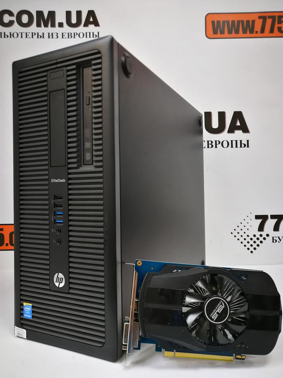 Компьютер HP 800 G1 Tower, Intel Core i3-4130 3.4GHz, RAM 8ГБ, SSD 120ГБ + HDD 500ГБ, GeForce GT 1030 2ГБ NEW