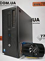 Компьютер HP 800 G1 Tower, Intel Core i3-4130 3.4GHz, RAM 8ГБ, SSD 120ГБ + HDD 500ГБ, GeForce GT 1030 2ГБ NEW, фото 1