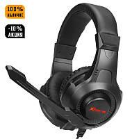 Ігрові навушники з мікрофоном і RGB підсвіткою XTRIKE ME HP-311 Black чорні геймерські, фото 1