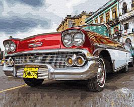 Картина по Номерам Красное ретро 40х50см RainbowArt