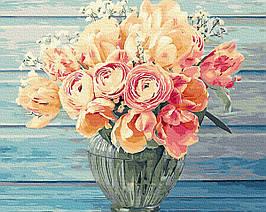 Картина по Номерам Нежный букет 40х50см RainbowArt
