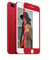 Защитное стекло с мягкими краями Tempered Glass PRO+ 3D iPhone 7 Plus/8 Plus Red