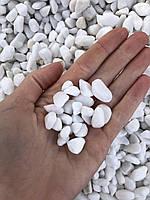 Галька белая Греция Thassos 0-10 мм (мешок 25 кг)
