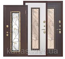 Входная дверь со стеклопакетом Плющ 75мм
