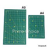 Набор для пэчворка и квилтинга 15 ед 2 коврика А3 + А4 мат лекало дисковый нож для шитья, фото 6