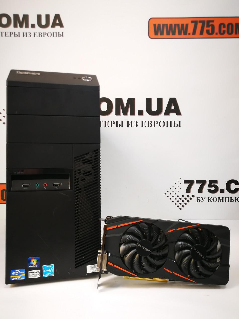 Игровой компьютер Lenovo, Intel Core i5-4570 3.6GHz, RAM 8ГБ, SSD 120ГБ + HDD 500ГБ, GeForce GTX 1060 6ГБ
