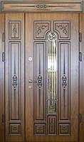 Двери входные уличные Термопласт 74 мм Модель 13 (стеклопакет + ковка) Vinorit