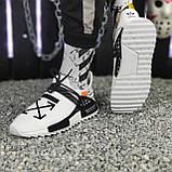 Мужские кроссовки Adidas Pharrell Williams NMD Off White в стиле Адидас НМД Офф Вайт БЕЛЫЕ (Реплика ААА+), фото 4