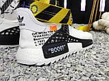 Мужские кроссовки Adidas Pharrell Williams NMD Off White в стиле Адидас НМД Офф Вайт БЕЛЫЕ (Реплика ААА+), фото 5
