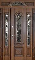 Двери входные уличные Термопласт 74 мм Модель 20 (стеклопакет + ковка) Vinorit
