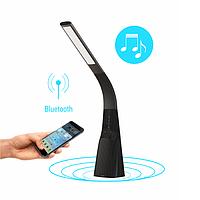 Настольная умная лампа Intelite DL7 9W (USB, димминг, температура, звук) черная DL7-9W-BL