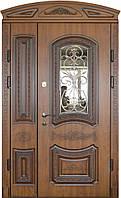 Двери входные уличные Термопласт 74 мм Модель 31 (стеклопакет + ковка) Vinorit