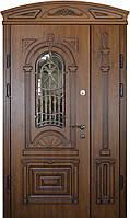 Двери входные уличные Термопласт 74 мм Модель 22 (стеклопакет + ковка) Vinorit