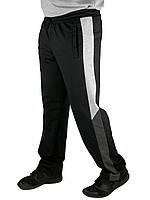 """Спортивные брюки прямые мужские """"Трио"""" (черные), фото 1"""