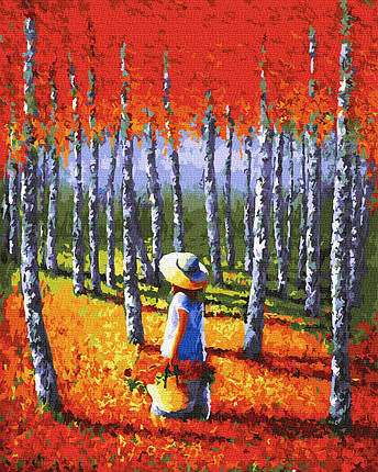 Картина по Номерам Теплый лес 40х50см RainbowArt, фото 2