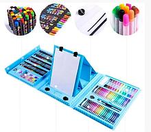 Набор для рисования 208 предметов для детей чемодан предметов DL125 синий