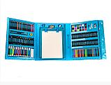 Набор для рисования 208 предметов для детей чемодан предметов DL125 синий, фото 3