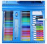 Набор для рисования 208 предметов для детей чемодан предметов DL125 синий, фото 6