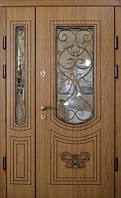 Двери входные уличные Термопласт 74 мм Модель Г1 (стеклопакет + ковка) Vinorit