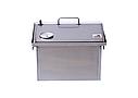 Домашняя коптильня для горячего копчения домик с термометром 400х300х310, фото 7