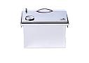 Домашняя коптильня для горячего копчения из нержавейки домик с термометром 400х300х310, фото 7