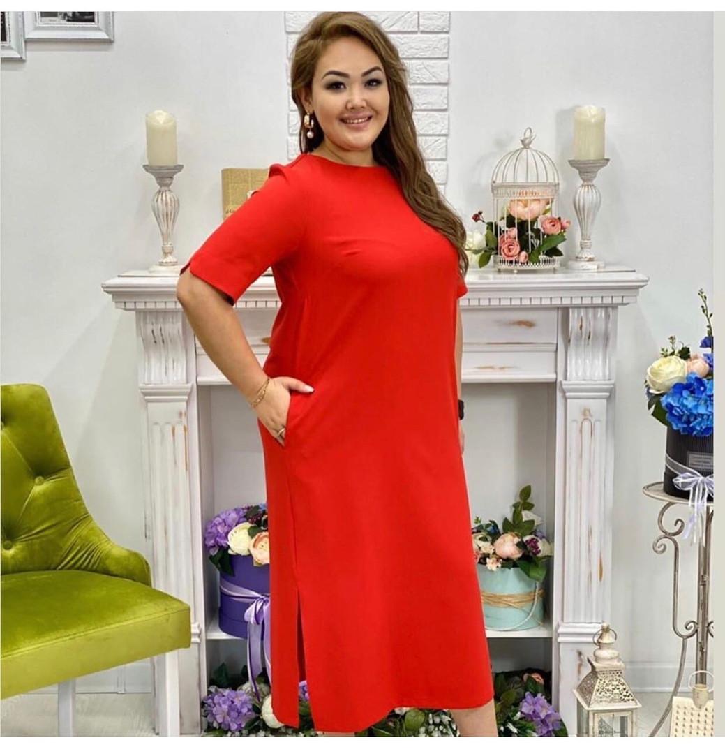 Платье летнее прямого кроя большого размера, Повседневное летнее легкое платье, Женское стильное платье летнее больших размеров