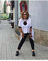 Брючный костюм из легкой ткани, Женский брючный костюм летний, Летний женский брючный костюм, Брючный костюм летний большого размера,, фото 3