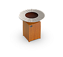 Гриль-мангал, барбекю HOLLA GRILL Original Rust  закрытая тумба, фото 3