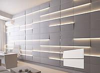 3Д панелі з гіпсу з підсвічуванням LED Соѕмо