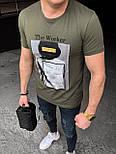 😜 Футболка - Мужская футболка хаки с принтом, фото 2