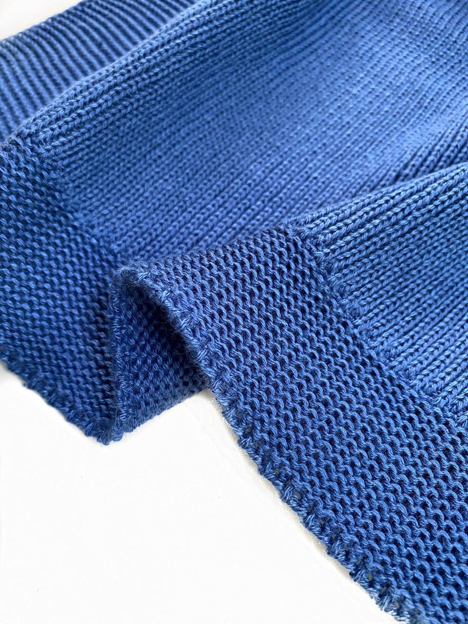 Плед Ohaina 190х140 хлопок Classic Blue