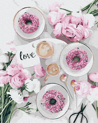Картина за Номерами Ароматні пончики 40х50см RainbowArt, фото 2