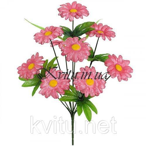 Искусственные цветы букет атласных ромашек 9-ка, 38см