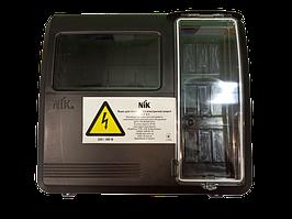 Ящик под одно-трехфазный счётчик пластиковый 280х305х117 мм 9 мод. черный DOT-3.1 NIK