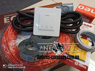 Тонкий под плитку стяжку нагревательный кабель 4 мм Fenix ADSV 18 (комплект c cенсорным Terneo S)