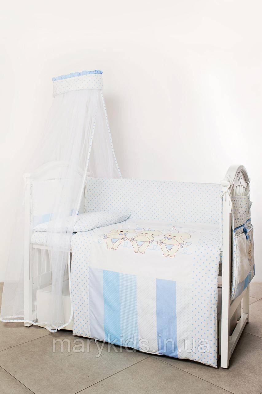 Детская постель Twins Dolce 4060-D-003 Друзья зайчики 8 элементов