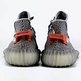 Мужские кроссовки Adidas Yeezy Boost 350 V2 Tail Light  в стиле адидас изи буст СЕРЫЕ (Реплика ААА+), фото 3