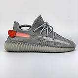 Мужские кроссовки Adidas Yeezy Boost 350 V2 Tail Light  в стиле адидас изи буст СЕРЫЕ (Реплика ААА+), фото 5