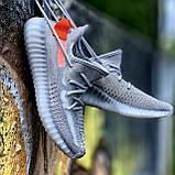 Мужские кроссовки Adidas Yeezy Boost 350 V2 Tail Light  в стиле адидас изи буст СЕРЫЕ (Реплика ААА+), фото 6