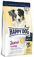 Корм беззерновой для юниоров средних и крупных пород собак Happy Dog Junior Grainfree 10 кг