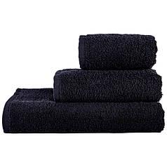 Махровое полотенце 70х140 (500г/м) Nostra (Без Бордюра) Черное