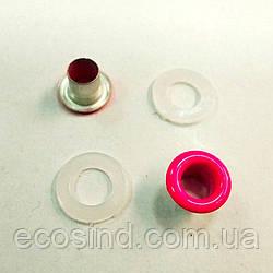 Люверс (Блочка) с пластиковым кольцом №3 розовые D5мм (100шт) (СИНДТЕКС-1003)