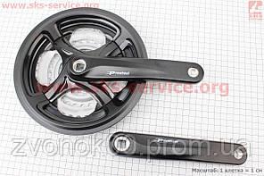 """Шатун (крепление """"квадрат"""") 170мм, 48.38.28T к-кт MTB, алюминиевые, черные TY-CM99"""