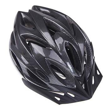 Шлем велосипедный Helmet Н-012F Carbon Black велошлем для велосипедистов защитный аксессуар